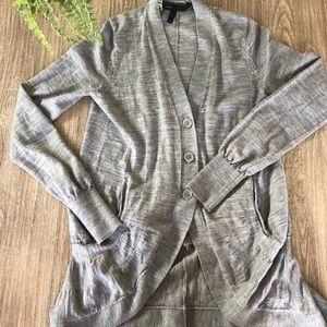 BCBG heather grey cardigan